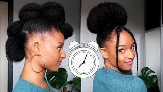 4 Coiffures Cheveux Crépus En 5 Minutes! à Essayer Dès MAINTENANT :)
