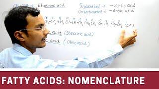 Nomenclature of Fatty acid