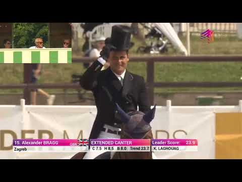 Alex Bragg and Zagreb Dressage Test Jardy 2018 Leg 5 with live Judge Cam!
