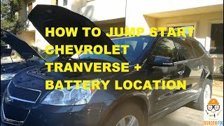 ▶️Chevrolet Traverse How to Jump Start 2010 2011 2012 2013 2014+  + Battery Location