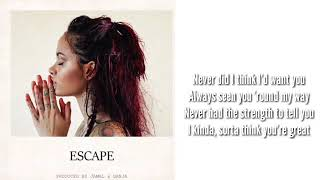 Kehlani Escape (Lyrics)