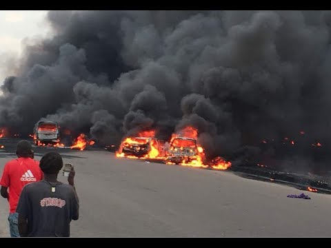 Tanker Exploded At Otedola Bridge INW Berger Lagos -  Lives Lost, Cars Burnt
