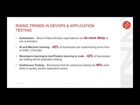 The Rising Importance of Software Testing and the New Wave of Strategies and Solutions for Driving CI/CD Related YouTube Video