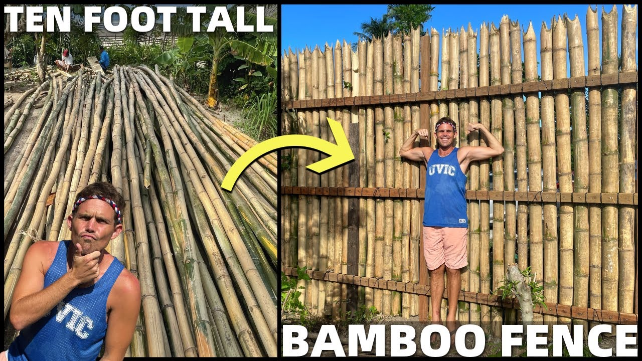 BecomingFilipino – BUILDING GIANT BAMBOO FENCE – Beach Land Life In The Philippines (Davao, Mindanao)