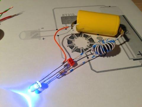 Экономичный светодиодный фонарик на одной батарейке