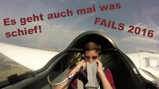 Segelfliegen - Es geht auch mal was schief! - Gliding FAILS 2016 | FC Aarbergen