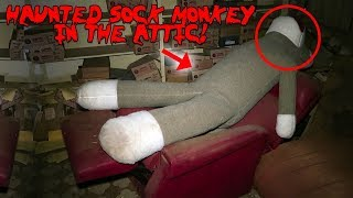 HAUNTED SOCK MONKEY IN A HAUNTED ATTIC AT 3 AM!! *IT MOVED CAUGHT ON CAMERA*   MOE SARGI