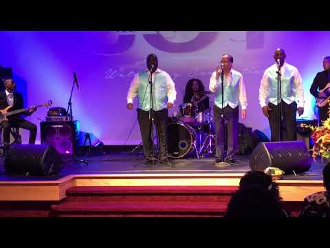 Playing an awesome set with my Gospel Group, The Voices Of Joy!