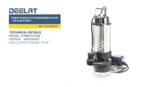 Three Phase 15 HP Submersible Pump - 130 M @ 15 m3/H