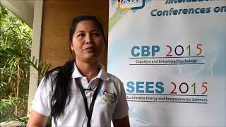 Amphone Sivongxay at SEES Conference 2015 by GSTF Singapore