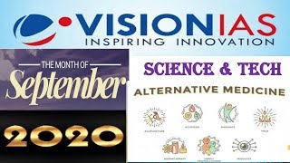 Vision Ias -September 2020:Science & Technology Current Affairs:UPSC/STATE_PSC