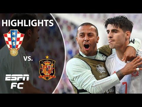 Spain advances to Euro 2020 quarterfinals after 8-goal thriller vs. Croatia   Highlights   ESPN FC