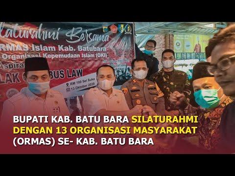 Bupati Kab. Batu Bara silaturahmi dengan 13 Organisasi masyarakat (ormas) se Kabupaten Batu Bara