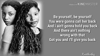 Chloe X Halle   Be Yourself (Lyrics)