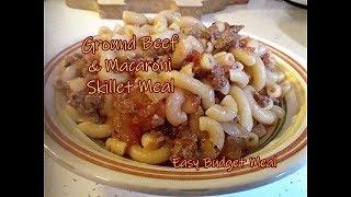 Ground Beef & Macaroni Skillet Meal