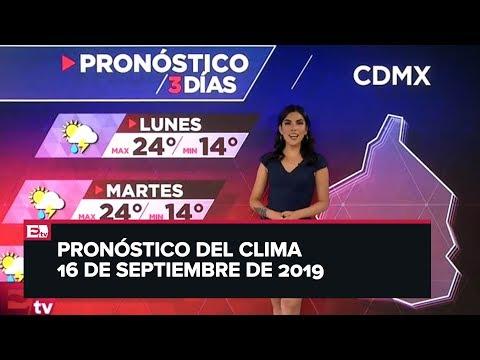 Clima para hoy 16 de septiembre de 2019
