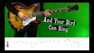 And Your Bird Can Sing - Tabs and Isolated Guitars - Cover