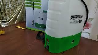 Опрыскиватель аккумуляторный Grunhelm GHS -16M от компании Интернет-магазин Karat-Market - видео