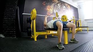 Жим штанги узким хватом, 80 кг. / Функциональный бодибилдинг