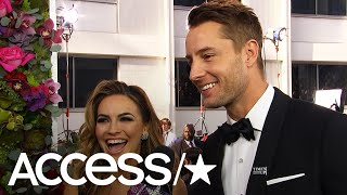 Justin Hartley & Chrishell Stause Gush About Walking The Globes' Carpet As Newlyweds | Access