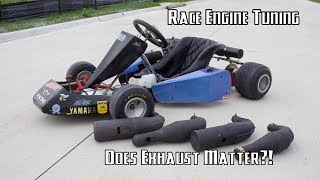 2 Stroke Racing Go Kart Expansion Pipe Shootout!