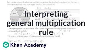 Interpreting general multiplication rule | Probability & combinatorics