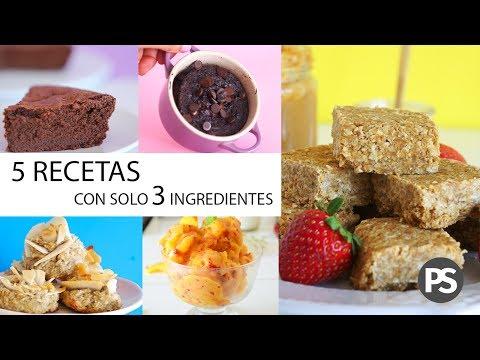5 Recetas Saludables Con Solo 3 Ingredientes