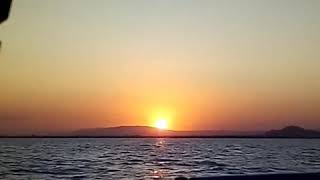 Sunset at sea Video