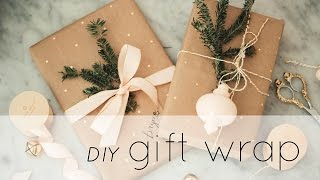 DIY Gift Wrap Tutorial & Ideas: How To Make Wrapping Paper From A Whole Foods Bag! | Chic Éthique