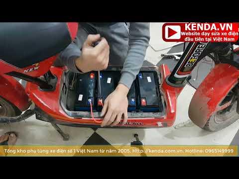 Hướng dẫn thay bình ắc quy xe điện 133s siêu dễ