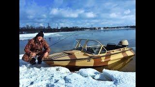 Рыбалка с лодки. Февраль 2019. Ищем окуня. Вкусно готовим.