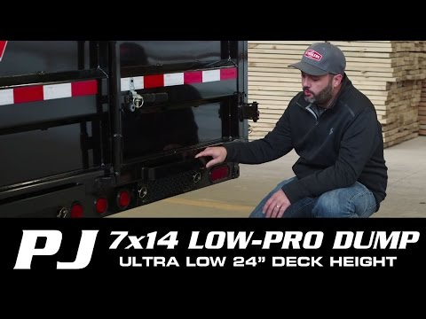 2019 PJ Trailers 83 in. Low Pro Dump (DL) 14 ft. in Kansas City, Kansas - Video 1
