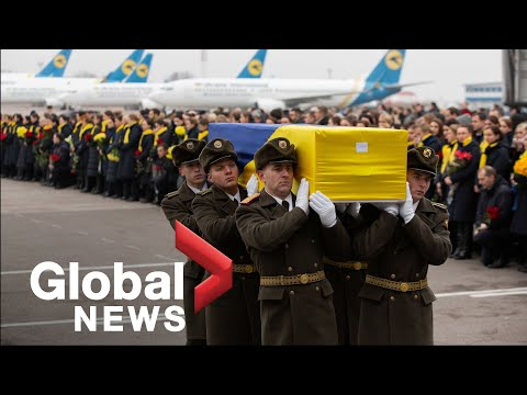 Iran plane crash: Bodies of victims returned to Ukraine in solemn ceremony at Kyiv airport
