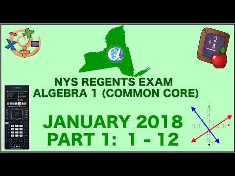 NYS Algebra 1 [Common Core] January 2018 Regents Exam    Part ...