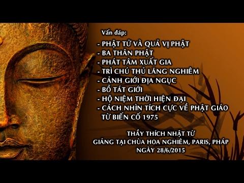 Vấn đáp: Phật tử và quả vị Phật, ba thân Phật, phát tâm xuất gia, trì chú Thủ Lăng Nghiêm, cảnh giới địa ngục, Bồ tát giới, hộ niệm thời hiện đại, cách nhìn tích cực về Phật giáo từ biến cố 1975