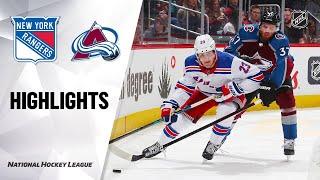 NHL Highlights | Rangers @ Avalanche 3/11/20