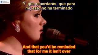 Adele - Someone Like You SUBTITULADO EN ESPAÑOL Y EN INGLES  SUB HD LYRICS