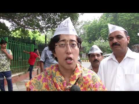 AAP Senior Leader Atishi Along with AAP Leaders Joined Left Protest against Fuel Prise Hike