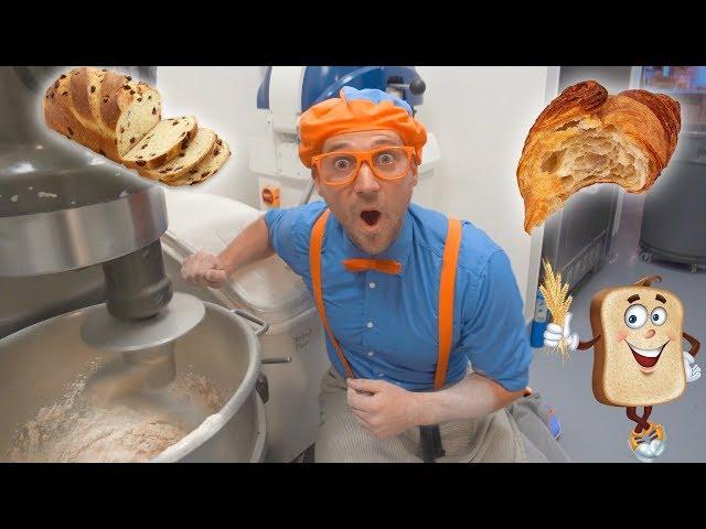 Blippi Visits the Bakery   Learn Healthy Eating for Children