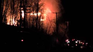 Abandoned house fire on Rte. 213 Rifton midnight Saturday 3/24/12