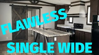 Not your typical single wide mobile home! Flawless design and setup | Mobile Home Tour