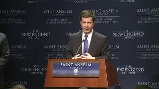 Raw video: Pete Buttigieg speaks at 'Politics and Eggs' event
