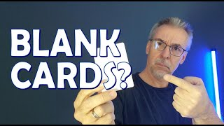 GAFF CARDS: What do you do with a blank card?