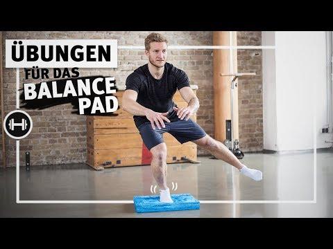 Balance Pad Übungen - Stabilisation für Knie, Fuß und Rumpf | Sport-Thieme