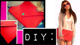 DIY No Sewing Oversized Envelope Clutch Part 1 (Gift Idea)