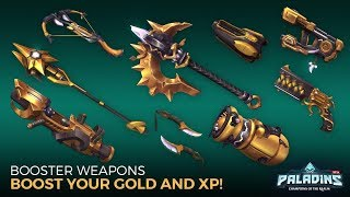 All Paladins Gold Weapon Animations