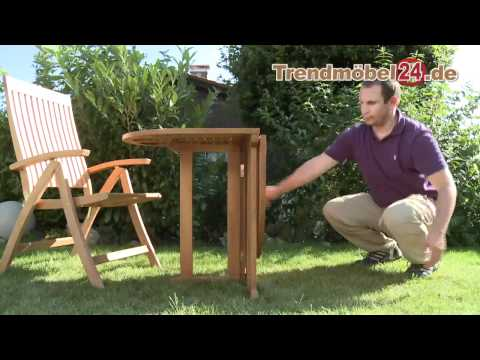 Balkonklapptisch Gartentisch Klapptisch jetzt in FSC Eukalyptus