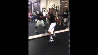 Floyd Mayweather Training at the Mayweather Boxing Gym