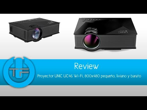 Mini Proyector UNIC UC46 Wi fi, LED, Miracast Airplay
