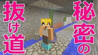 【カズクラ】秘密の抜け道!地下水路作ってみた!マイクラ実況 PART995